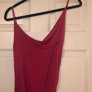 DVF Pink Spaghetti Strap Dress